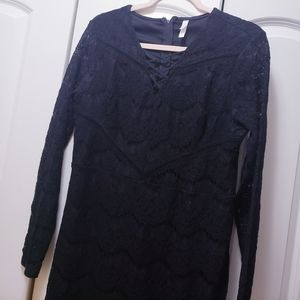 Xhilaration Black lace mini dress xl